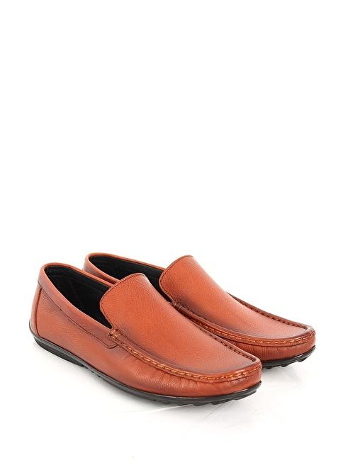 G.Ö.N. %100 Deri Casual Ayakkabı Taba